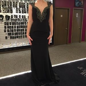 Dresses & Skirts - Black Formal Dress with Silver Beading
